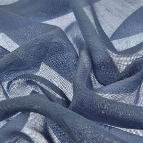 Locking CS - Navy (19) - Very thinly woven 100% Trevira CS fabric made in a dark shade of denim blue