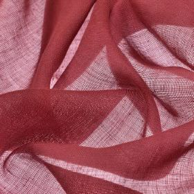 Locking CS - Rose (25) - Fabric made from 100% Trevira CS with a very thin, burgundy coloured finish