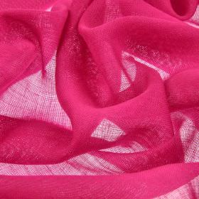 Locking CS - Fuchsia (26) - Bright hot pink coloured fabric made from 100% Trevira CS which has been woven very loosely