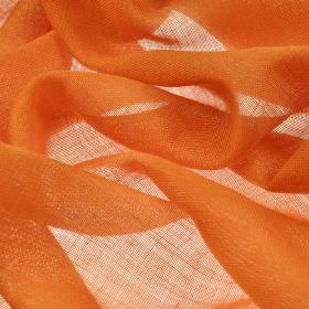 Locking CS - Orange (28) - Burnt orange coloured, loosely woven fabric made entirely from Trevira CS
