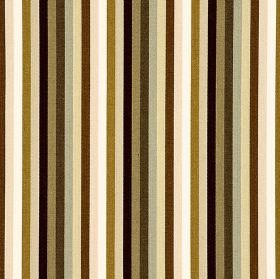 Lima CS - Brown (6) - Vertically striped 100% Trevira CS fabric with a regular, simple pattern in various different shades of brown and beig