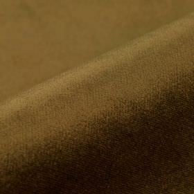 Frevo - Brown - Dark forest green coloured 100% Trevira CS woven into a plain fabric