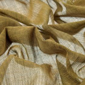 Sousta CS - Copper (9) - Dark khaki coloured fabric made from very thinly woven 100% Trevira CS