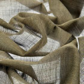 Sousta CS - Brown (11) - Dark grey-green coloured 100% Trevira CS fabric which has a very thin, almost translucent, finish