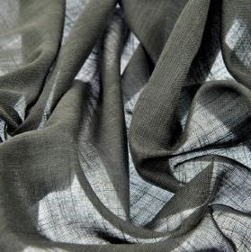 Sousta CS - Anthracite (16) - Fabric made from 100% Trevira CS which is plain, very dark grey in colour, and very thin