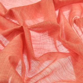 Sousta CS - Red (20) - Plain salmon pink coloured fabric made from 100% Trevira CS