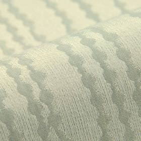 Eliot - Grey (4) - Fabric made from silver and very pale grey coloured 100% polyester patterned with straight lines made up of various dots