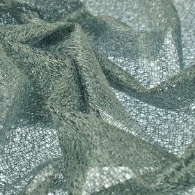 Donne - Light Grey (4) - Very loosely woven, almost net-like fabric made from polyester and rayon in a steel grey colour