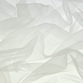 Jonson - White - Extremely thin, loosely woven, brilliant white coloured polyester and nylon blend fabric