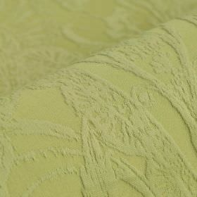 Auden - Green - Very intricate, ornate designs making up a very subtle pattern on grass green cotton and polyester blend fabric