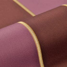 Royal Stripe - Purple Pink (34) - Rich chocolate and purple coloured bands with thin gold strips in between, patterning cotton and rayon ble