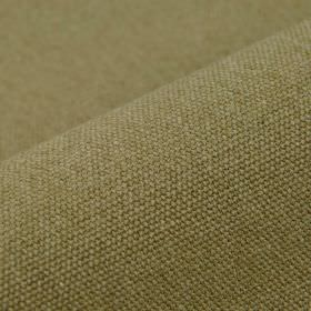 Samba - Brown7 - Plain dusky grass green coloured fabric containing a blend of cotton and viscose