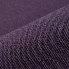 Samba - Purple (33) - Dark aubergine coloured fabric made from an unpatterned blend of cotton and viscose