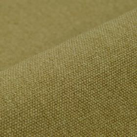 Samba - Beige Brown - Plain fabric woven from Army green coloured cotton and viscose