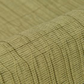 Tatami CS - Beige (3) - Uneven horizontal and vertical lines patterning light, dusky green coloured 100% Trevira CS fabric