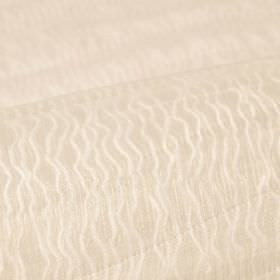 Sino CS - White (7) - Light magnolia coloured 100% Trevira CS fabric covered with a subtle, irregular, uneven wavy line pattern