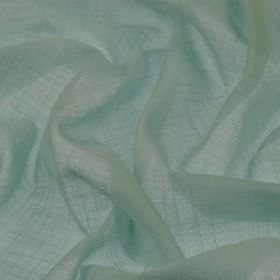 Kagura CS - Blue (1) - Very thin light duck egg blue coloured 100% Trevira CS fabric