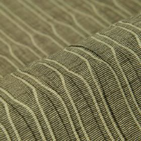 Tatami CS - Brown (8) - Beige and dark grey coloured 1005 Trevira CS fabric patterned with stripes and lines which move closer and further a