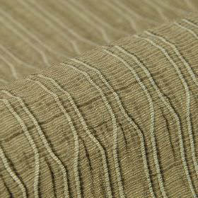 Tatami CS - Brown (5) - Pale grey-green lines growing closer and further apart on a light khaki-cream coloured 100% Trevira CS fabric backgr