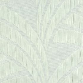 Sensu CS - Cream (1) - Subtle off-white coloured curved lines and blocks patterning very pale seafoam coloured fabric made from 100% Trevira