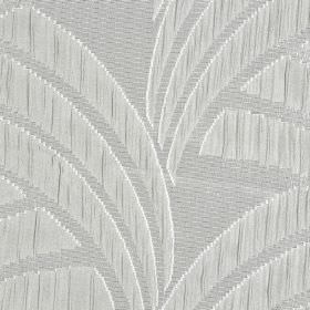 Sensu CS - Grey (2) - Several different pale shades of grey making up a pattern of curved lines and block shapes on 100% Trevira CS fabric