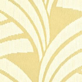 Sensu CS - Cream Beige - 100% Trevira CS fabric in cream, patterned with curved lines and blocks of colour in a warm honey shade