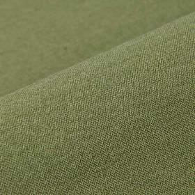 Salina - Dark Green (10) - Plain mid-green coloured polyester and viscose blend fabric
