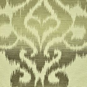 Sabalan - Cream Brown - A shaded pattern with rough edges printed in a swirling design on a blended fabric in various different shades of gr