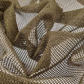 Toba - Brown (3) - Net-style 100% polyester fabric woven with chocolate brown coloured threads