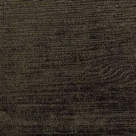 Hekla - Brown (7) - Raven black coloured cotton, polyester and viscose blend fabric, subtly streaked with a woodgrain style design in brown