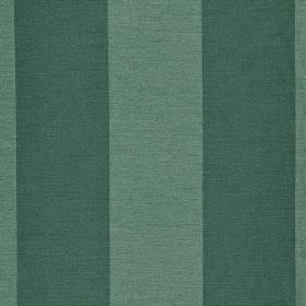 Furnas - Blue - Fabric made from vertically striped polyester and rayon, with a simple, evenly spaced design in emerald and dusky green