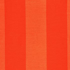 Furnas - Red (9) - Vivid orange stripes running down polyester & rayon blend fabric in two very similar shades, with a regular, even design