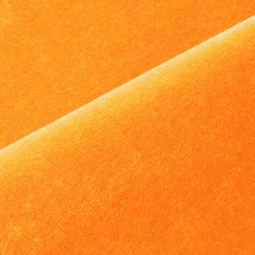 Scala - Orange4 - Plain fabric containing a bright orange coloured blend of cotton and polynosic