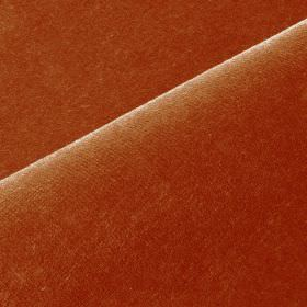 Scala - Red1 - Cotton and polynosic blend fabric made in brick red with no pattern