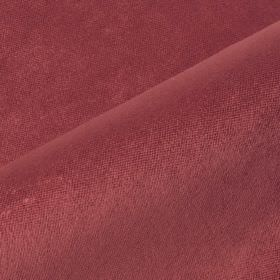 Argento - Pink Red - Fabric made from cotton, polyester and viscose in a plain, dusky shade of mulberry