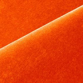 Scala - Red3 - Plain cotton and polynosic blend fabric made in a very bright, vivid shade of orange
