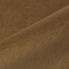 Argento - Brown - Fabric made from a chocolate brown coloured blend of cotton, polyester and viscose with no pattern