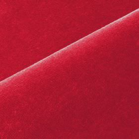 Scala - Red Pink - Cotton and polynosic blend fabric made in a bright scarlet colour