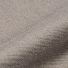 Frisky - Brown (9) - Mid-grey coloured streaks subtly patterning a very pale grey coloured polyester and viscose blend fabric background