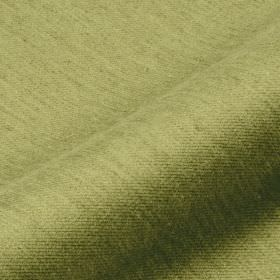 Frisky 305cm - Green2 - Apple green coloured fabric streaked with a subtle effect in forest green, made from a blend of polyester and viscos