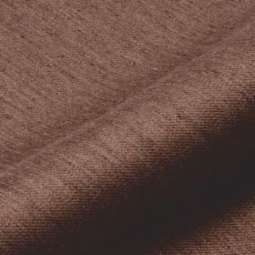 Frisky - Brown (19) - Polyester and viscose blended into a walnut brown coloured fabric patterned with streaks in a darker shade of brown