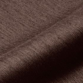 Frisky 305cm - Brown6 - Streaks covering luxurious brown polyester and viscose blend fabric in an extremely dark brown-black colour
