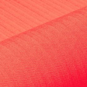 Lavina - Red (16) - Coral coloured fabric made from a very vivid blend of polyester and Trevira CS