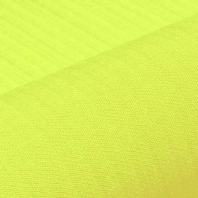 Lavina - Green (28) - Very bright lime green coloured polyester and Trevira CS blend fabric