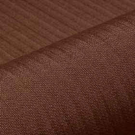 Lavina - Brown (40) - Subtle lines running across a polyester and Trevira CS blend fabric in a rich chocolate brown colour