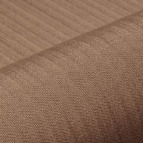 Lavina - Brown (41) - Mocha coloured polyester and Trevira CS blend fabric, patterned with a subtle pattern of regular, even lines