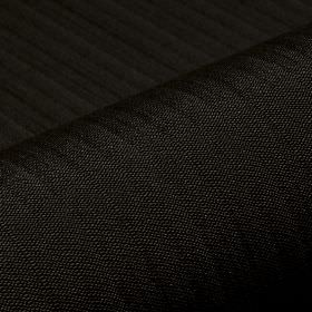 Lavina - Black (46) - Very subtle lines running across a jet black coloured polyester and Trevira CS blend fabric