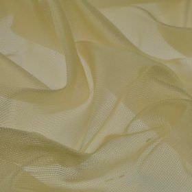 Bercy - Cream (1) - Limestone coloured fabric blended from polyester and silk with a fine net-like effect