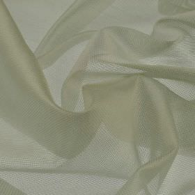 Bercy - Cream (2) - Net-like fabric made from polyester and silk in a pale grey-white colour