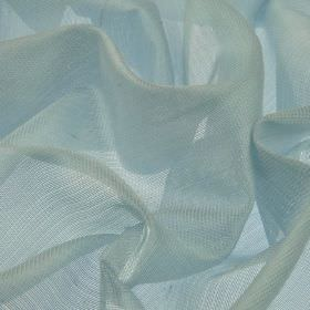 Bercy - Blue (3) - Polyester and silk blend fabric made with a net-like effect in a very pale shade of blue